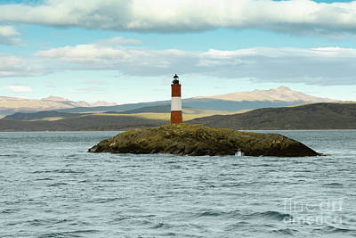 Argentina Photograph - Les Eclavireurs Lighthouse, Beagle Channel, Argentina by Dani Prints and Images