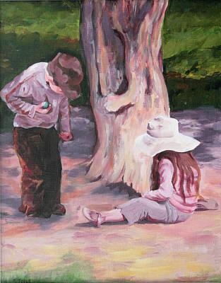 Painting - Les Enfant Aux Parc Mattisse by Trina Teele