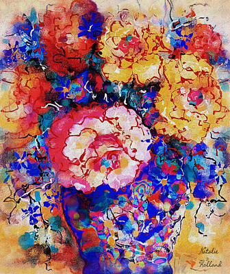 Painting - Les Fleurs by Natalie Holland