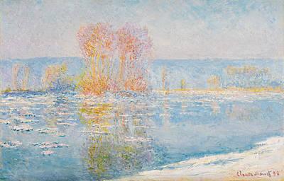 Painting - Les Glacons. Bennecourt by Claude Monet