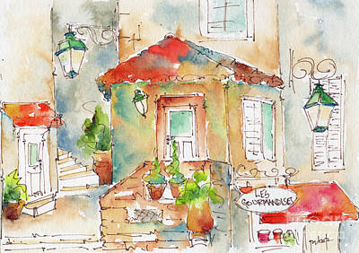 Les Gourmandises St Paul De Vence Original by Pat Katz