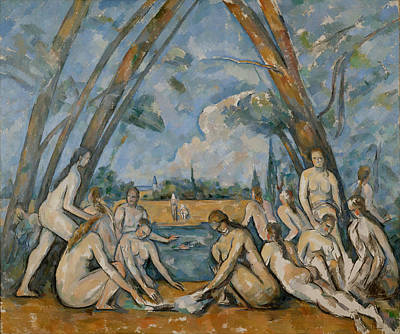 Painting - Les Grande Baigneuses by Paul Cezanne