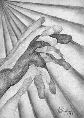 Drawing - Les Mains by Taylan Apukovska