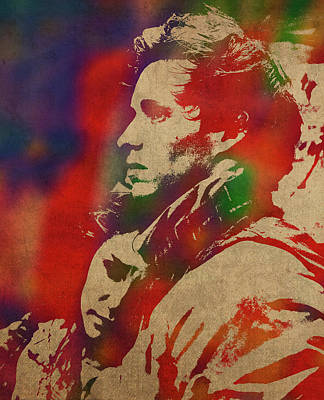 Marius Mixed Media - Les Miserables Watercolor Portrait Series 006 by Design Turnpike