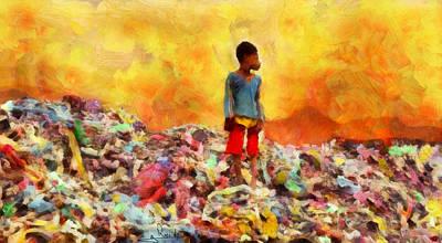 Sahara Painting - Les Miserables X by George Rossidis