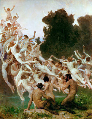 Painting - Les Oreades by William-Adolphe Bouguereau