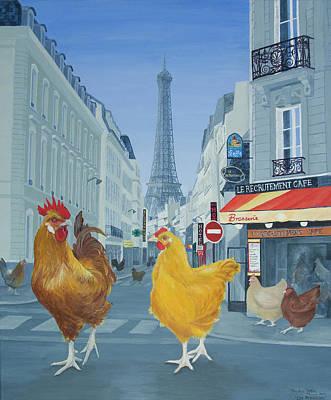 Les Parisiens Art Print