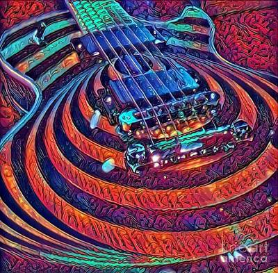 Les Paul Bullseye Guitar - Pure Sexy Abstract Art Print