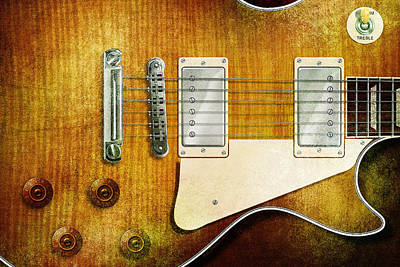 Digital Art - Les Paul Close by WB Johnston
