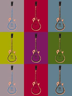 Music Digital Art - Les Paul Colorful Poster by Dan Sproul
