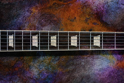Digital Art - Les Paul Five by WB Johnston
