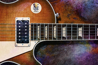 Digital Art - Les Paul Four by WB Johnston