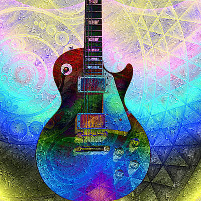 Digital Art - Les Paul Guitar 1 by Kiki Art