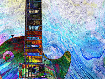 Digital Art - Les Paul Guitar 2 by Kiki Art