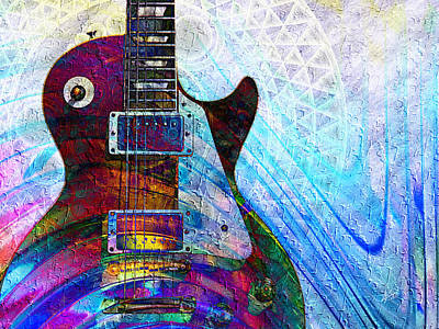 Digital Art - Les Paul Guitar 3 by Kiki Art