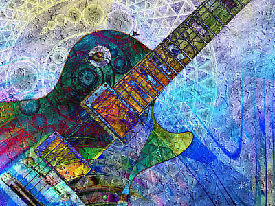 Digital Art - Les Paul Guitar 4 by Kiki Art