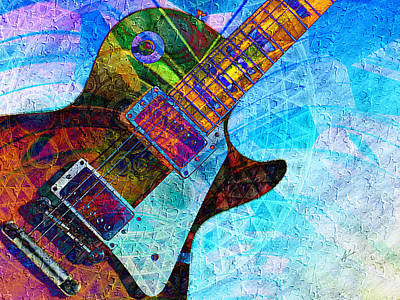 Digital Art - Les Paul Guitar 5 by Kiki Art