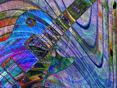 Digital Art - Les Paul Guitar 7 by Kiki Art