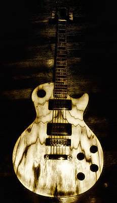 Axe Photograph - Les Paul Guitar by Bill Cannon