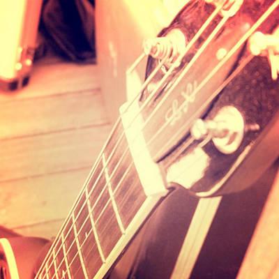 Guitar Player Digital Art - Les Paul Guitar by Brandi Fitzgerald