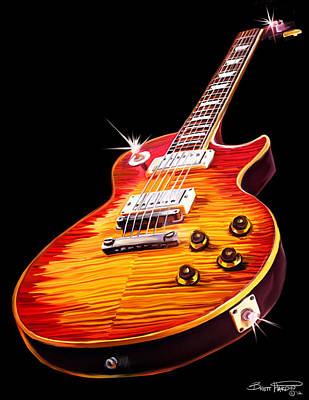 Painting - Les Paul Guitar by Brett Hardin
