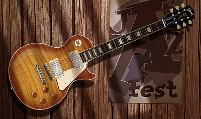Digital Art - Les Paul Jazzfest by WB Johnston