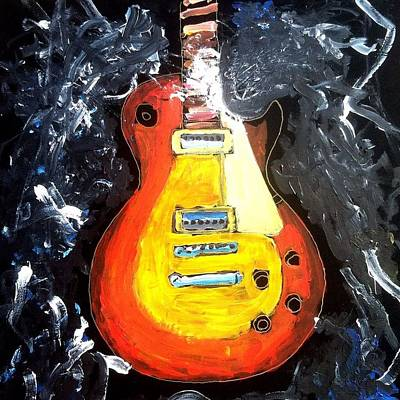 Painting - Les Paul Live by Neal Barbosa