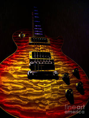 Digital Art - Guitar Custom Quilt Top Spotlight Series by Guitar Wacky