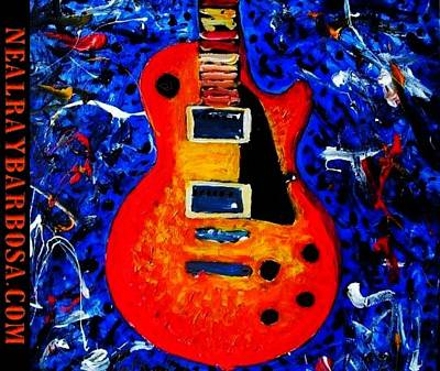 Painting - Les Paul Rocks by Neal Barbosa