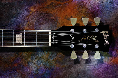 Digital Art - Les Paul Six by WB Johnston