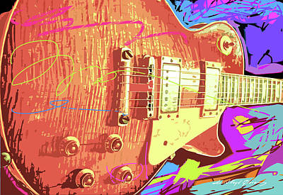 Les Paul Sunburst Art Print