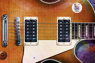 Digital Art - Les Paul Three by WB Johnston