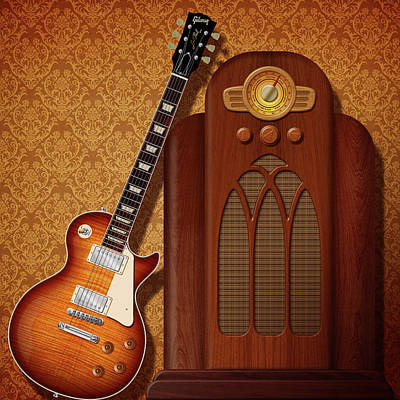 Digital Art - Les Paul Tones by WB Johnston