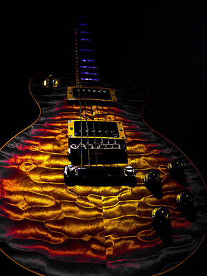 Digital Art - Tri-burst Quilt Top Guitar Spotlight Series by Guitar Wacky