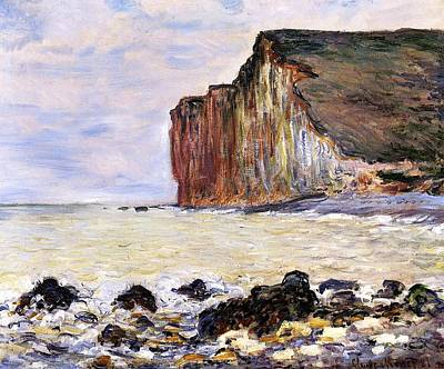 Shore Painting - Les Petites Dalles by Claude Monet