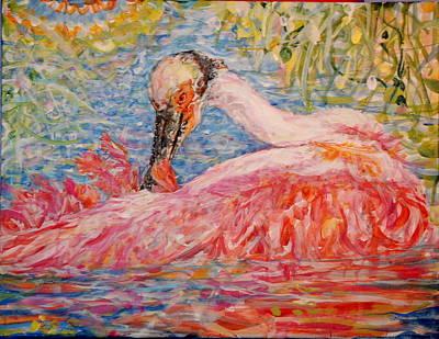 Painting - Les Plumes De Rose by Caroline Krieger Comings
