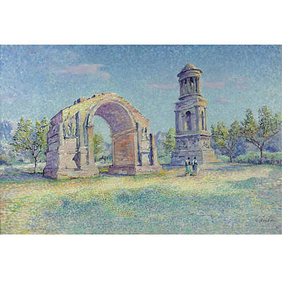 Les Ruines Romaines De Saint Art Print by MotionAge Designs