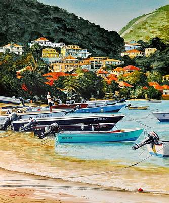 Painting - Les Saintes, French West Indies by Robert W Cook