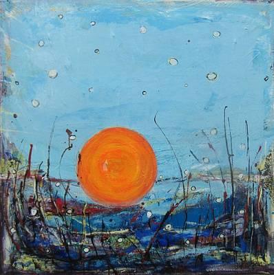 Painting - Les Sauterelles S'endorment by Francine Ethier