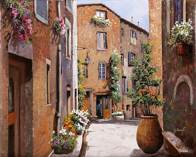 Light And Shadow Painting - Les Tourrettes by Guido Borelli