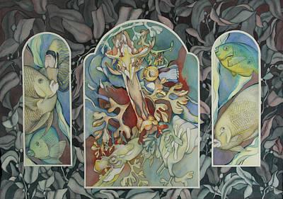 Sea Dragon Painting - Les Trois Fenetres by Liduine Bekman