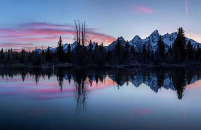 Photograph - Les Trois Tetons // Grand Teton National Park  by Nicholas Parker