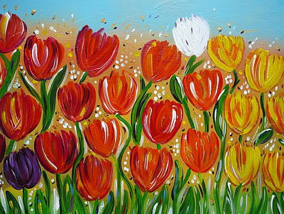 Painting - Les Tulipes - The Tulips by Gioia Albano