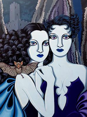 Les Vamperes Bleu Art Print