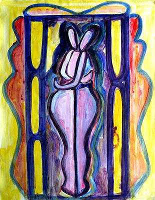 Lesbianism Painting - Lesbianism by Abin Raj