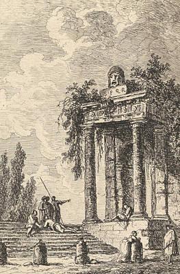 Relief - L'escalier Aux Quatre Bornes by Hubert Robert