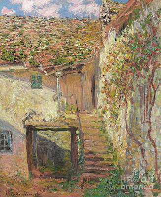 Painting - L'escalier by Claude Monet