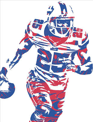Buffalo Bills Wall Art - Mixed Media - Lesean Mccoy Buffalo Bills Pixel Art 10 by Joe Hamilton