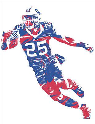 Buffalo Bills Wall Art - Mixed Media - Lesean Mccoy Buffalo Bills Pixel Art 11 by Joe Hamilton