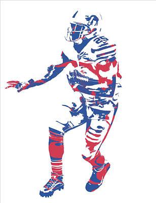 Buffalo Bills Wall Art - Mixed Media - Lesean Mccoy Buffalo Bills Pixel Art 12 by Joe Hamilton